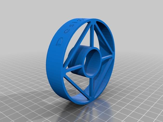 甜甜圈印 模具 3D打印模型渲染图