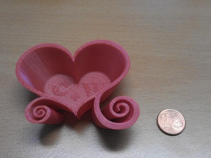 爱心盒 3D打印模型渲染图