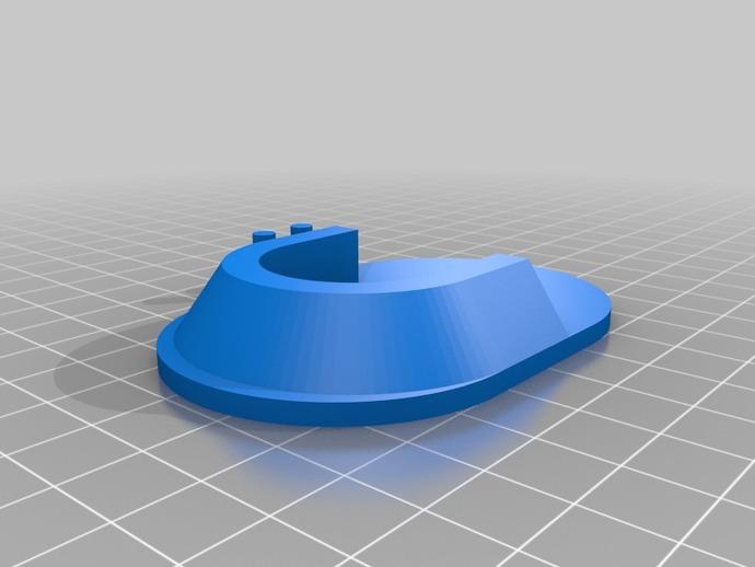 衣柜杆座 3D打印模型渲染图