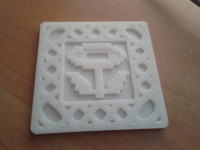 8-bit游戏杯垫 3D打印模型渲染图
