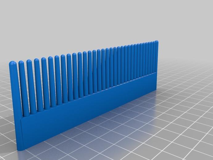 特制梳子 3D打印模型渲染图