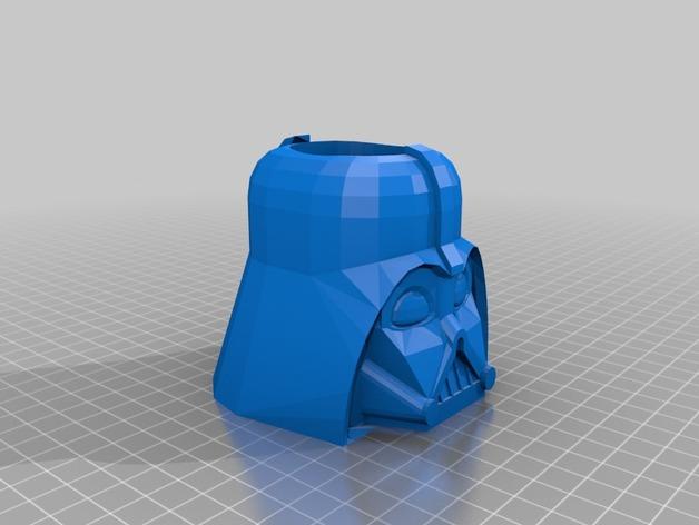 达斯·维德笔筒 3D打印模型渲染图