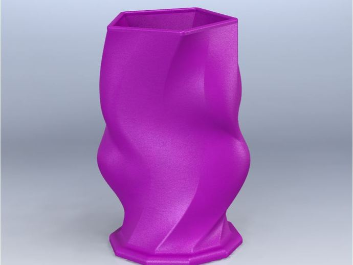 创意花瓶 3D打印模型渲染图