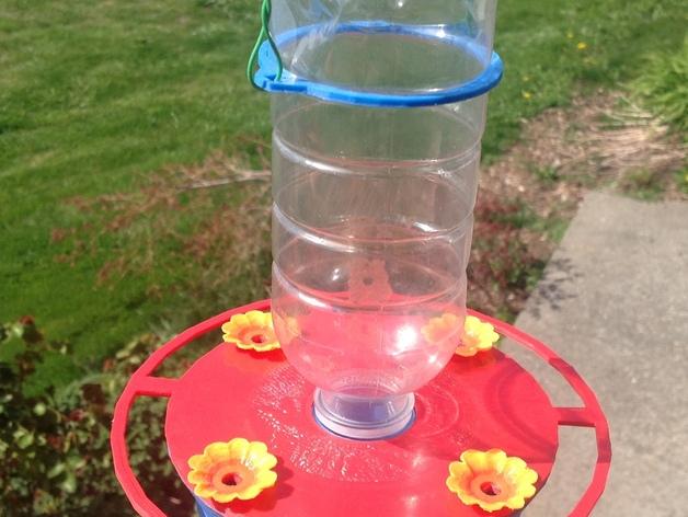蜂鸟喂水器/喂鸟器 3D打印模型渲染图