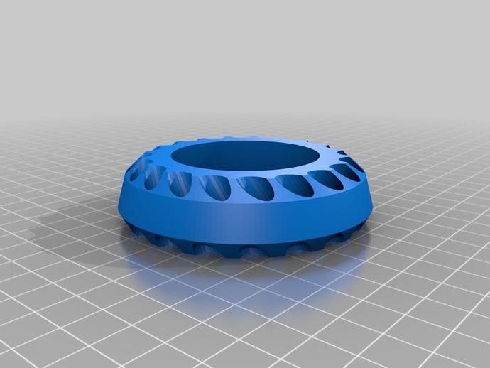 多孔笔筒 3D打印模型渲染图