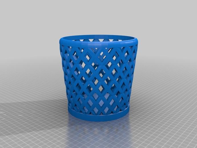 垃圾桶或笔筒 3D打印模型渲染图