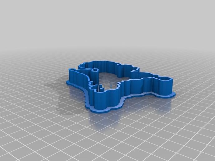 荷兰 饼干制作模具 3D打印模型渲染图