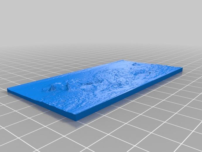 月球表面地图 3D打印模型渲染图