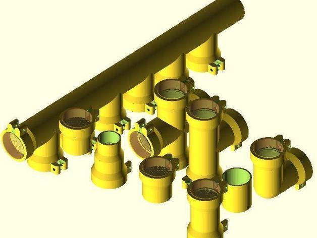 圆管配件 3D打印模型渲染图