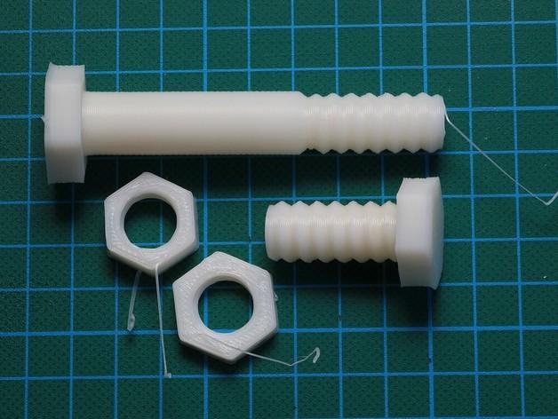 螺母 螺丝 3D打印模型渲染图
