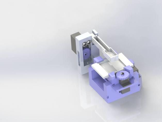 打印机XYZ轴打印床 3D打印模型渲染图