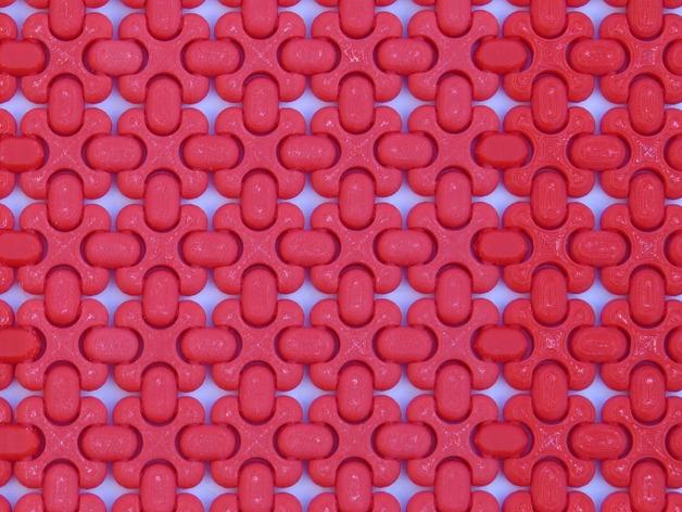 可折叠锁甲 3D打印模型渲染图
