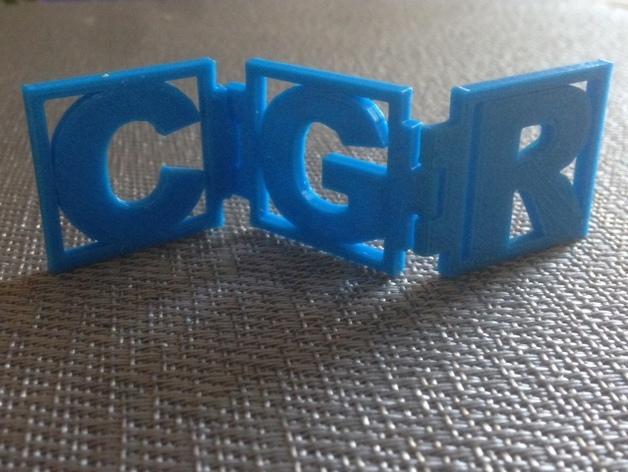 字母铰链 3D打印模型渲染图