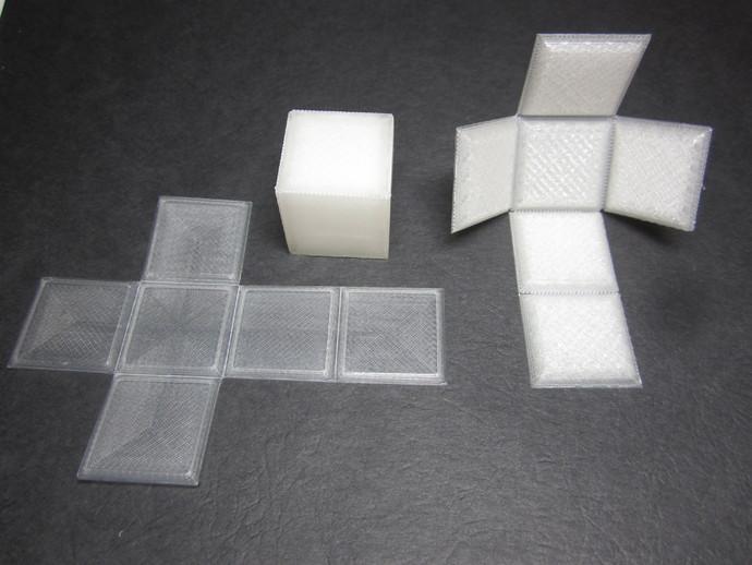 折叠正方体 3D打印模型渲染图