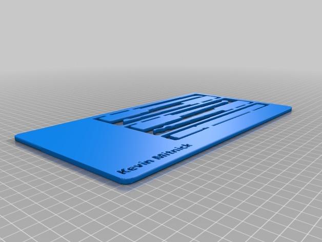 米特尼克卡 3D打印模型渲染图