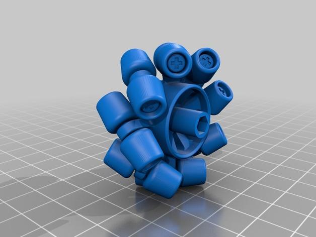 机械轮 3D打印模型渲染图