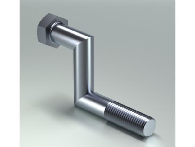 螺丝钉 3D打印模型渲染图