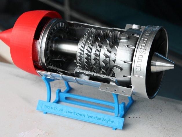 涡轮风扇发动机 3D打印模型渲染图