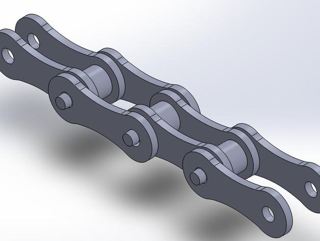 自行车链条 3D打印模型渲染图
