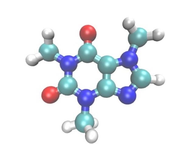 咖啡因分子模型
