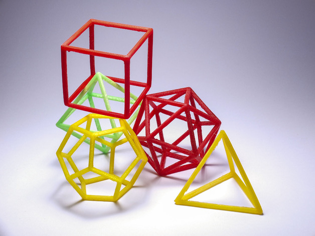 正多面体 3D打印模型渲染图