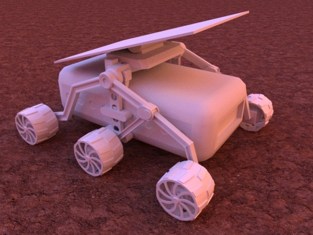 火星车 3D打印模型渲染图