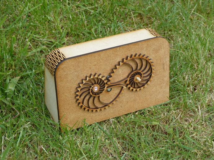 鹦鹉螺齿轮电动展示台 3D打印模型渲染图