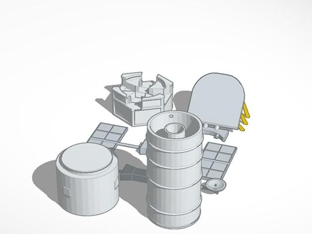 哈勃望远镜 模型 3D打印模型渲染图