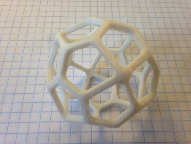 二十四面体 3D打印模型渲染图