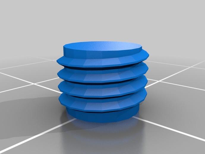 螺纹 3D打印模型渲染图