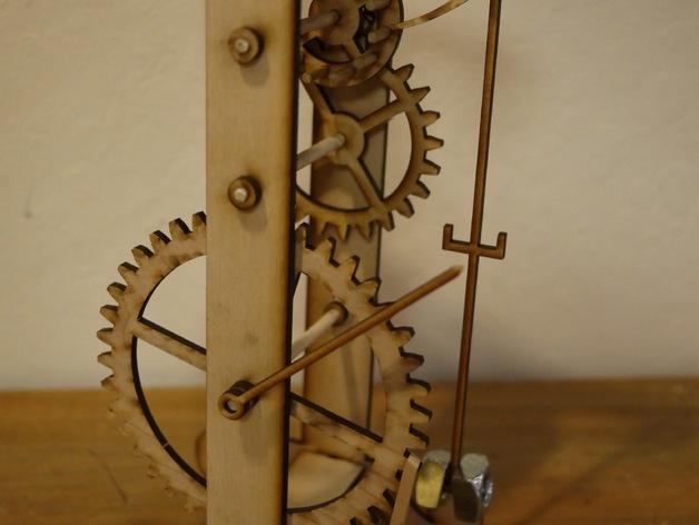 伽利略摆钟 3D打印模型渲染图