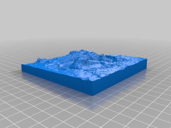火星陨坑 模型