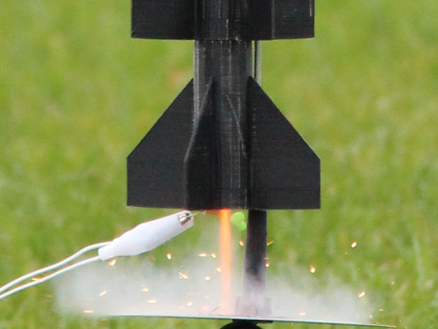 火箭模型 3D打印模型渲染图