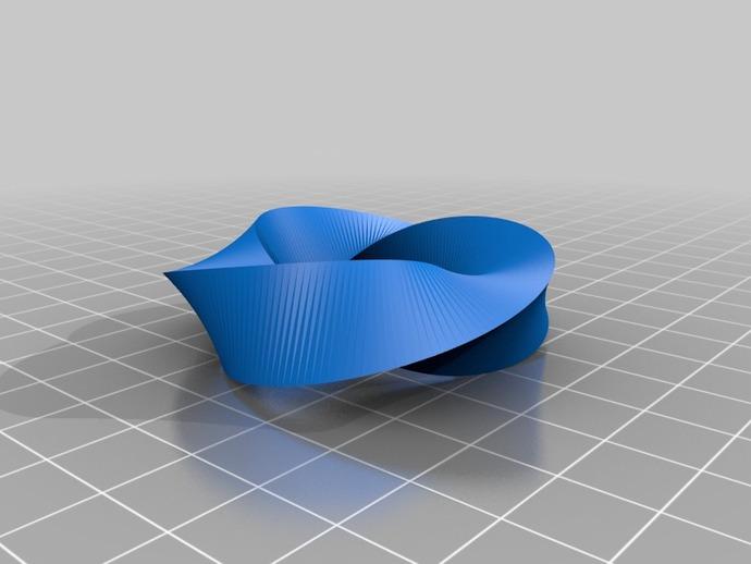 螺旋形圆环 3D打印模型渲染图