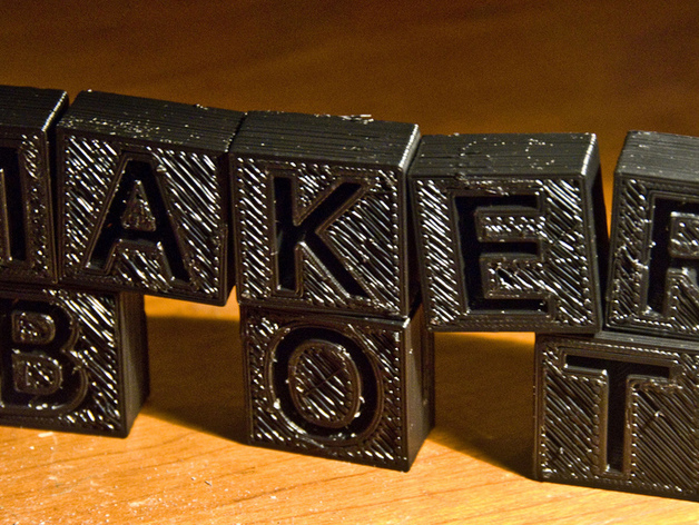字母模型块 3D打印模型渲染图