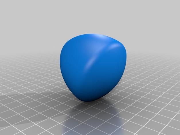 勒洛三角形模型3D打印模型下载,勒洛三角形模型stl文件下载,在线预