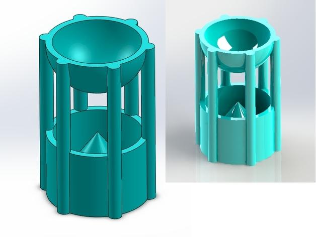 阿基米德容积定律 教学工具 3D打印模型渲染图