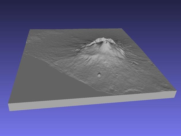 维苏威火山地形图模型