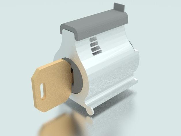 弹子锁 3D打印模型渲染图