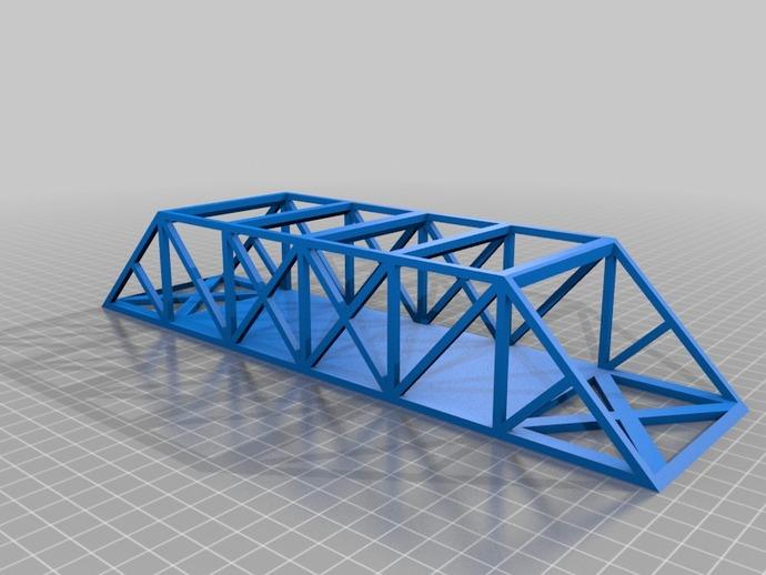 桁架桥模型 3D打印模型渲染图