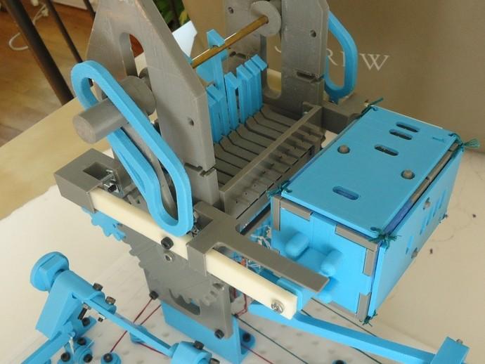 穿孔卡阅读器 3D打印模型渲染图