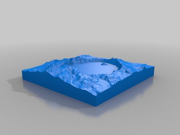 火山口湖地形图