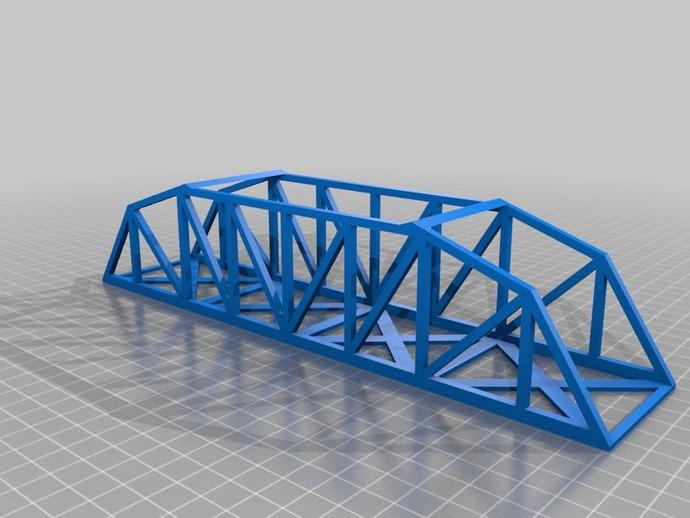 桥桁架 模型