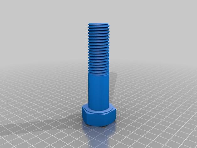 M20螺丝钉和螺母 3D打印模型渲染图