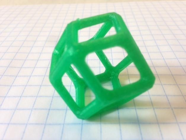 菱形十二面体 3D打印模型渲染图