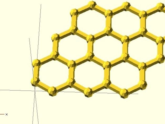 石墨烯分子模型