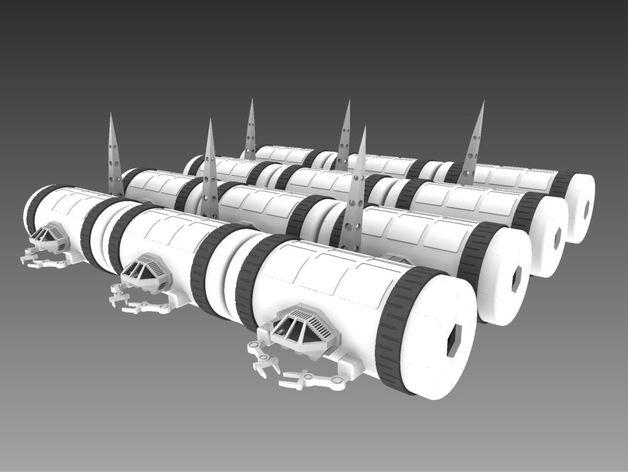 模块化移动火星基地