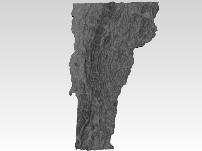 福蒙特州地形图模型 3D打印模型渲染图