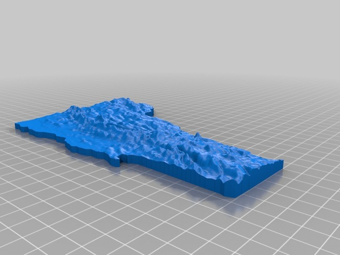 福蒙特州地形图模型