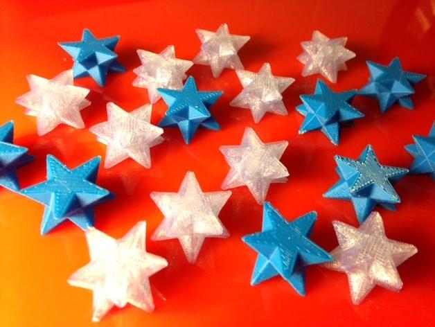 星星 3D打印模型渲染图